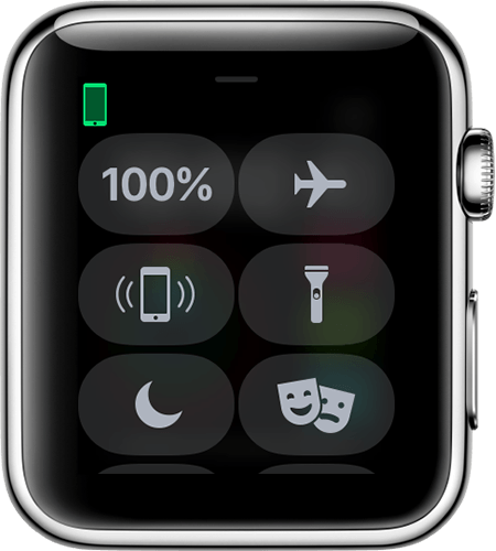 Image of a connected Apple Watch